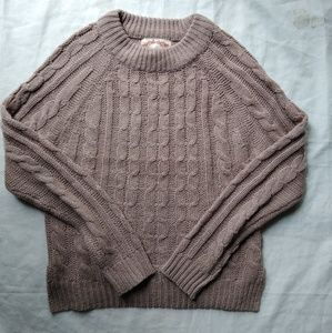 Ambiance cable _knit sweater , medium size